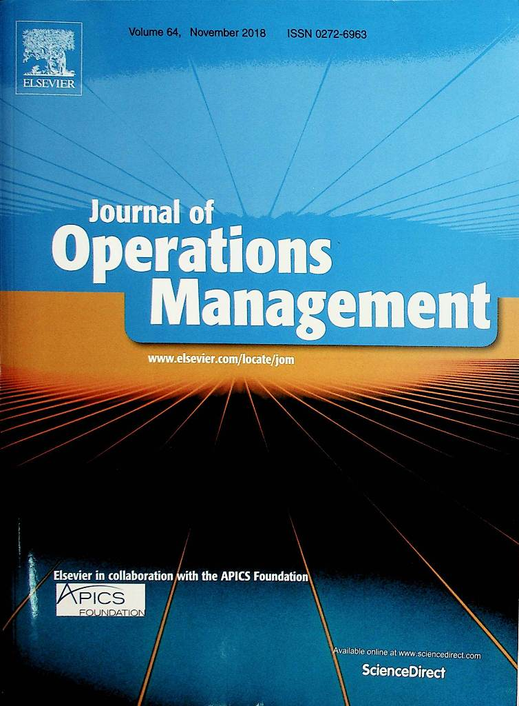 Journal of Operation Management, Vol.64 November 2018