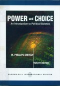 Power and choice:an introduction to political science