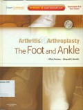 Arthritis & Arthroplasty : the foot and ankle