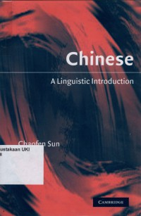 Image of Chinese : a linguistic introduction