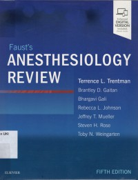 Image of Faust's Anesthesiology Review