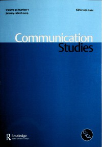 Image of Communication Studies, January-March 2019