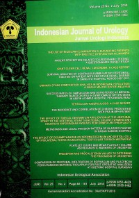 Image of Indonesian Journal of Urology, July 2018