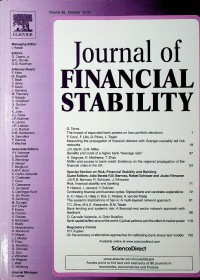 Image of Journal of Financial Stability, October 2018