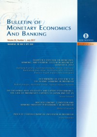 Image of Bulletin of Monetary Economics and Banking, Juli 2017