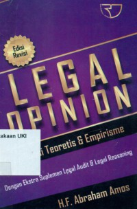 Image of Legal Opinion : aktualisasi teoretis & empirisme